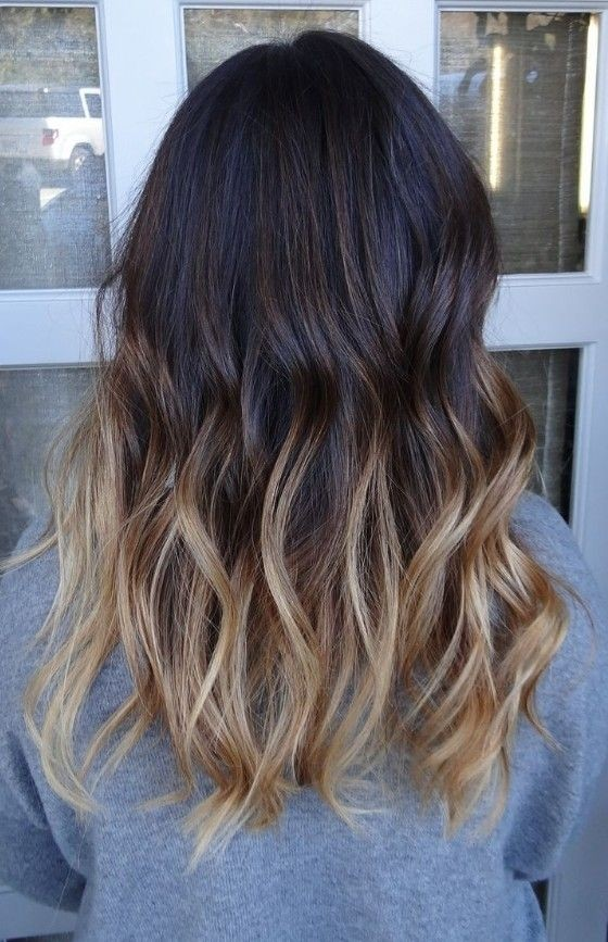 Medium Ombre Wavy Hairstyle