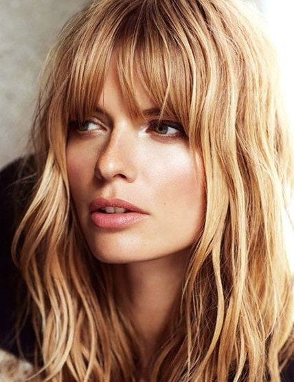 Medium Layered Hairstyle with Bangs - Pretty Designs