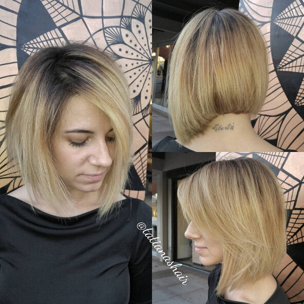 Messy Bob Hairstyle with Side Bangs