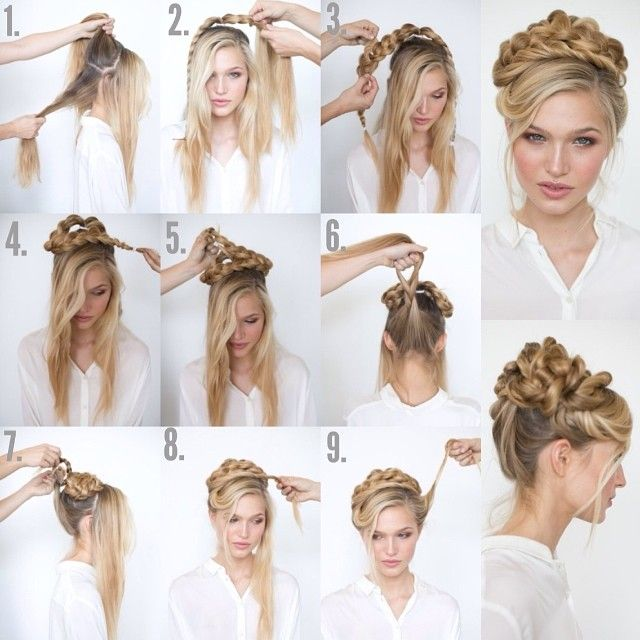 Messy Top Updo Hairstyle