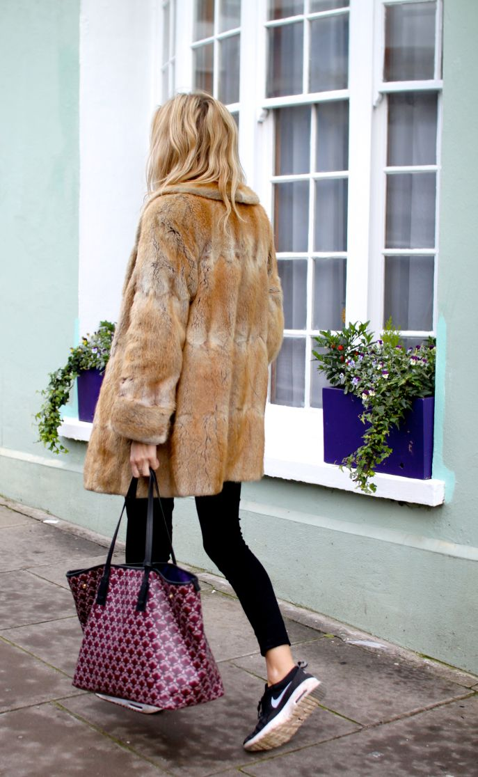 Mid-Length Faux Fur Coat
