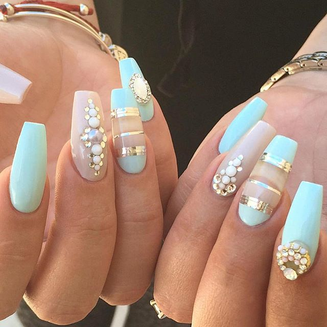 25 cute matte nail designs you will love pretty designs mint matte nail design prinsesfo Gallery