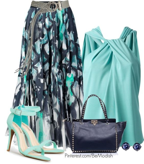 Ocean Blue Tone Outfit
