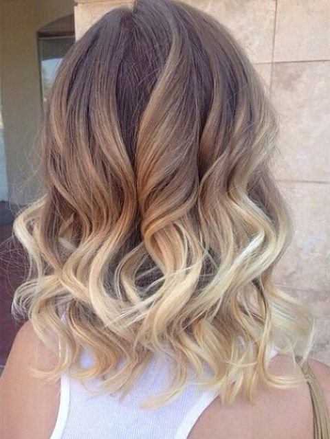 Ombre Curly Wavy Hairstyle