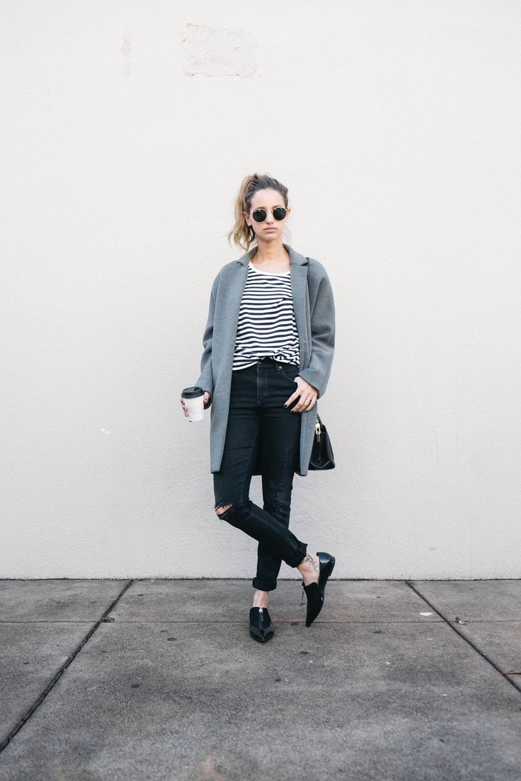 Oversized Coat and Loafers