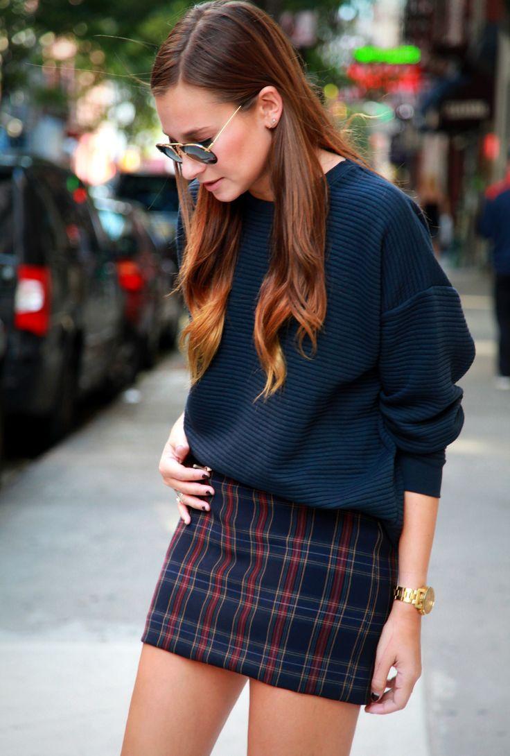 Oversized Sweater and Mini Skirt