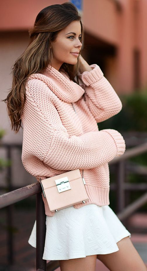 Oversized Sweater and Mini Whirling Skirt