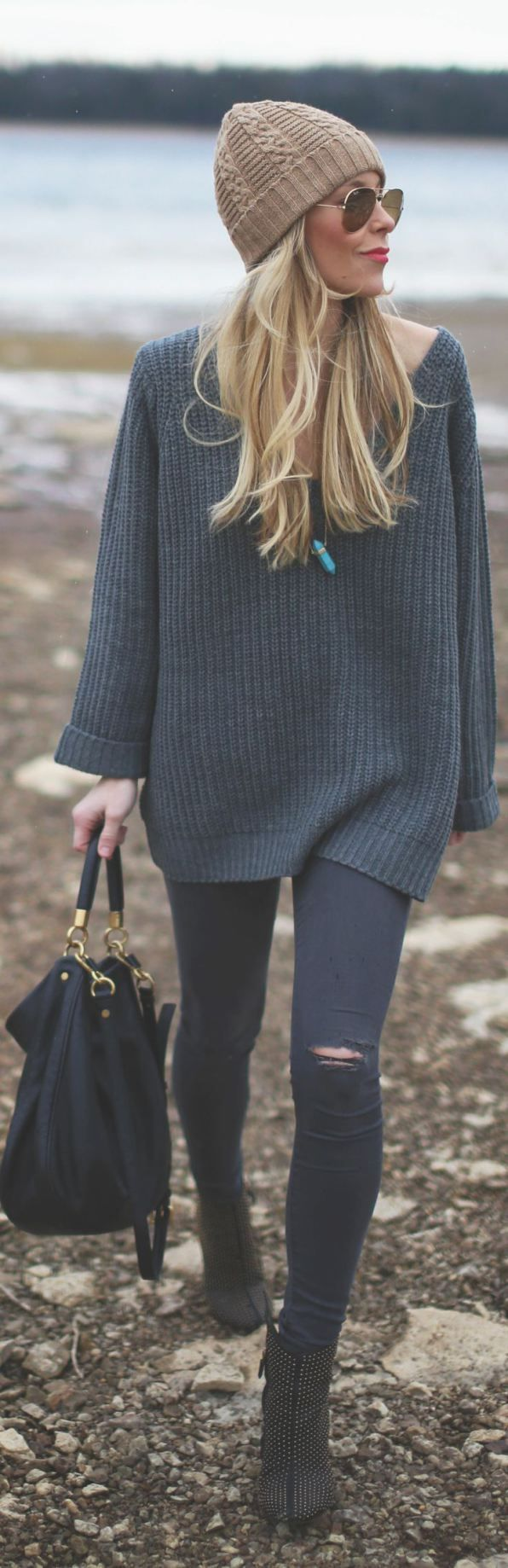Oversized Sweater and Ripped Leggings
