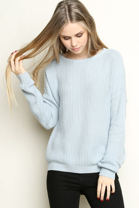 Pale Blue Sweater