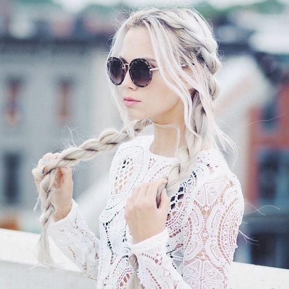 Pastel Hair Color Idea for Long Hair
