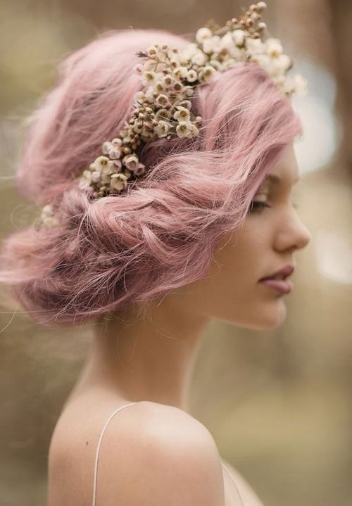 Pastel Colored Wedding Updo