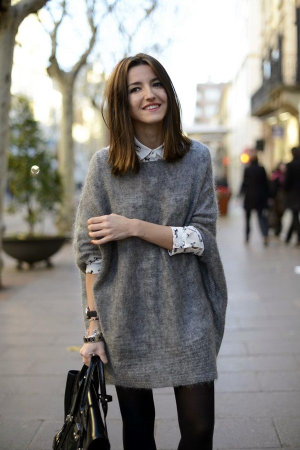 20 Chic Looks with Oversized Sweaters - Pretty Designs
