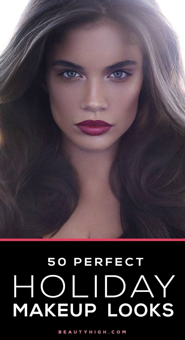 Perfect Holiday Makeup and Hairstyle Idea