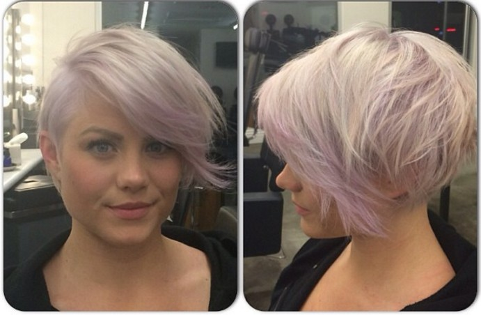 Pink Purple Pixie Hairstyle