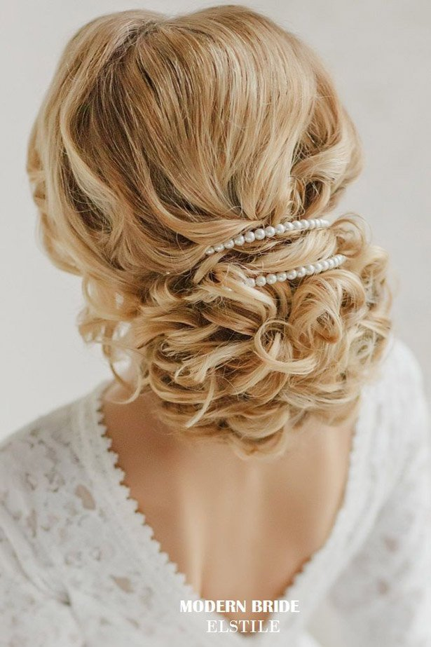 Pinned-Up Wedding Updo Hairstyle