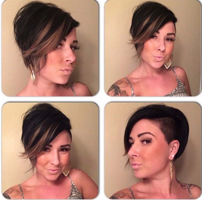 Pixie Hairstyle with Undercut