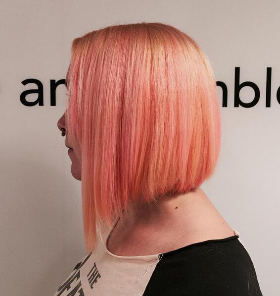 Pretty Pink Bob Hairstyle