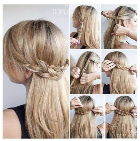Outstanding 11 Easy And Quick Half Up Braid Hairstyles Pretty Designs Short Hairstyles Gunalazisus