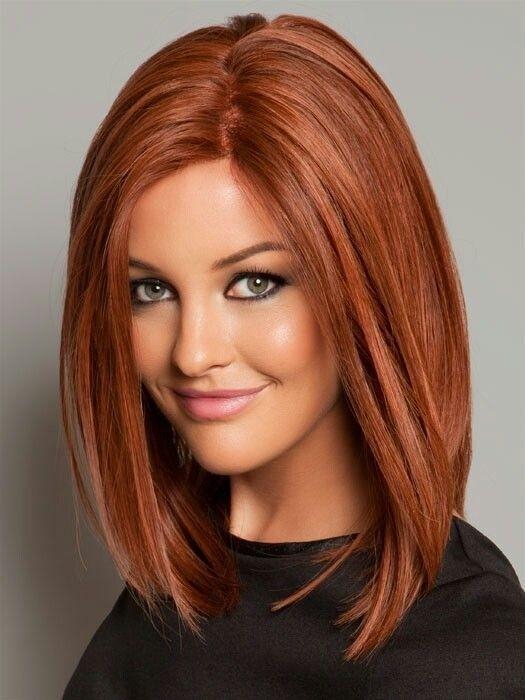 Red Long Bob Haircut
