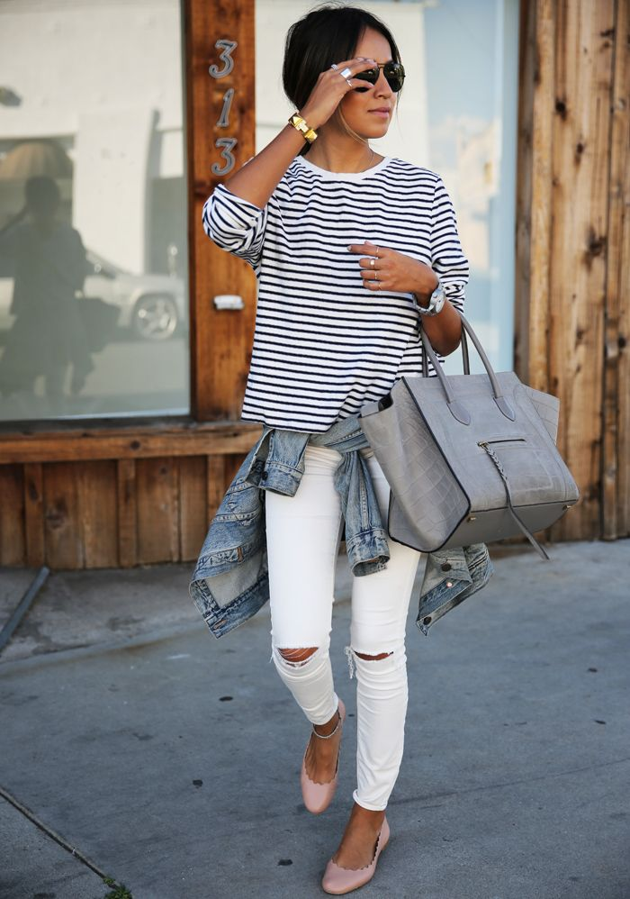 Ripped Jeans and Pink Flats