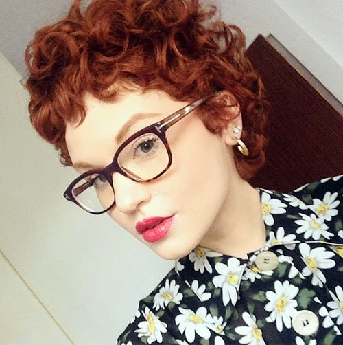 Romantic Short Curly Hairstyle