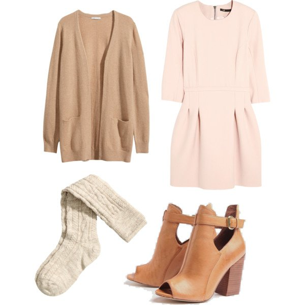 Rose Quartz Dress and Cardigan