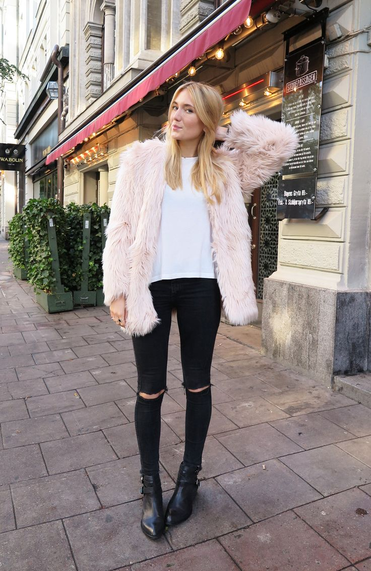 Rose Quartz Faux Fur Coat