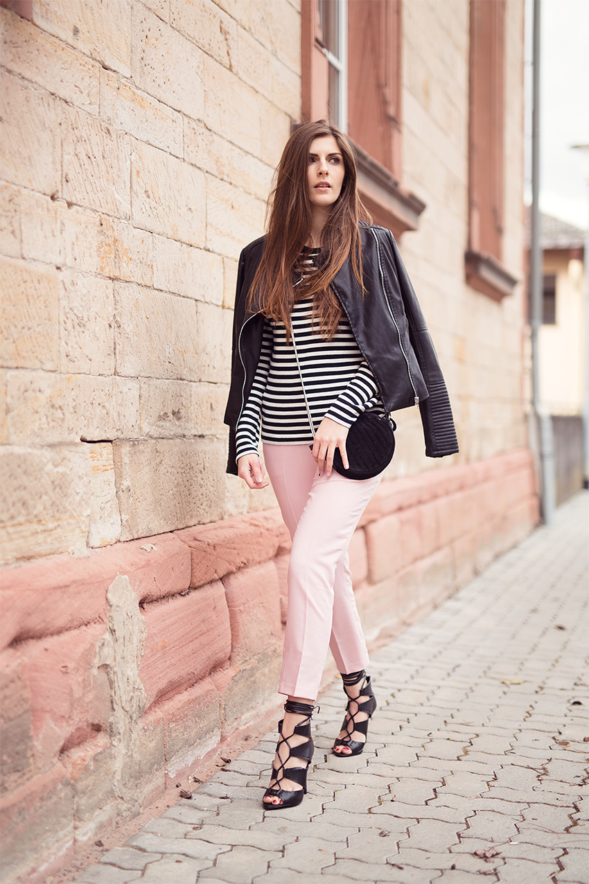 Rose Quartz Pants and Striped Top