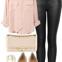 Rose Quartz Shirt, Bag and Pumps