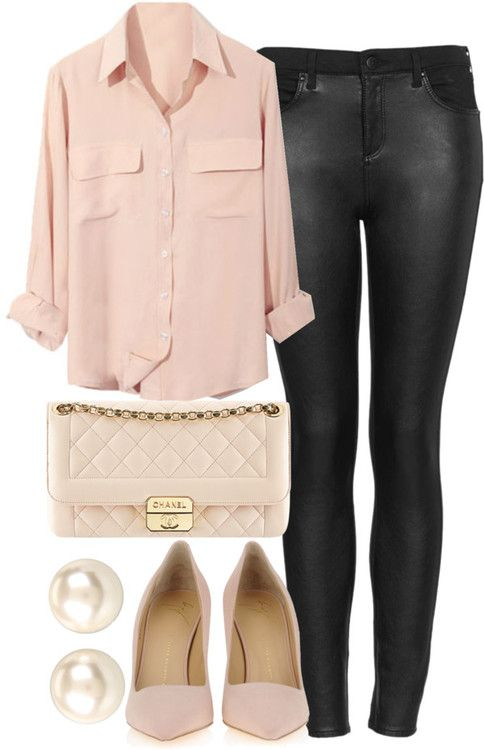 Rose Quartz Shirt, Bag and Pumps