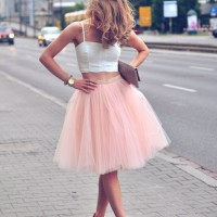 Rose Quartz Tulle Skirt