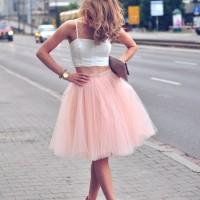 Rose Quartz Tulle Skirt