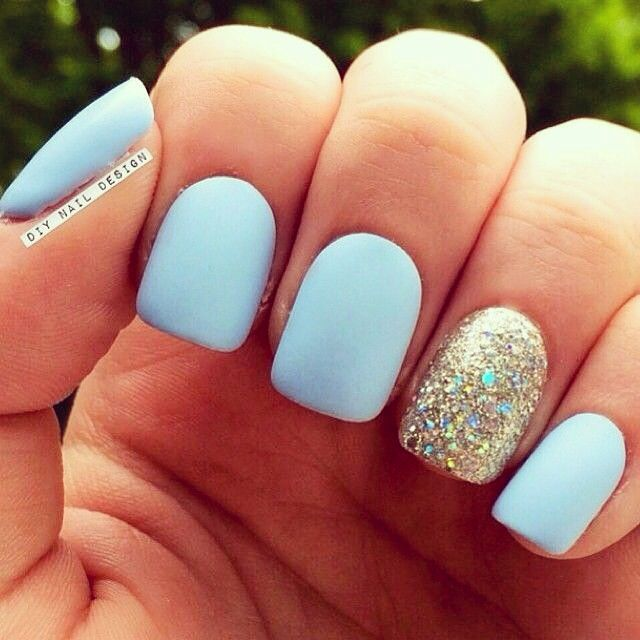 25 cute matte nail designs you will love pretty designs serenity matte nails prinsesfo Image collections