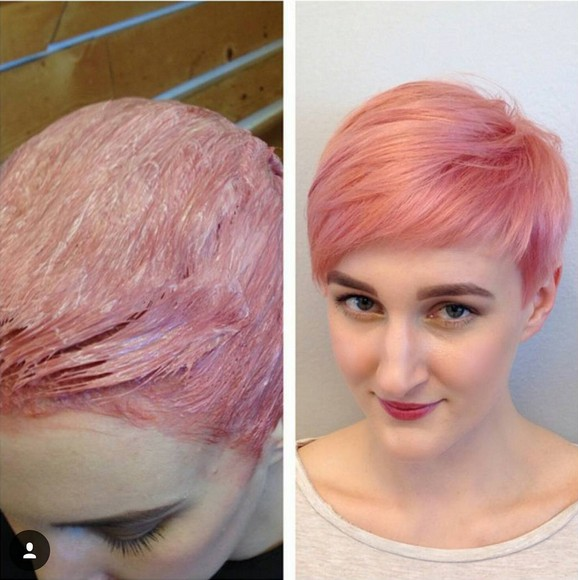 Short Pixie Hairstyle for Pink Hair