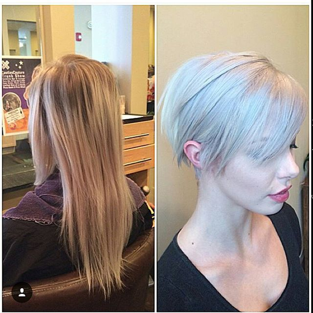 Sleek Long Pixie Hairstyle