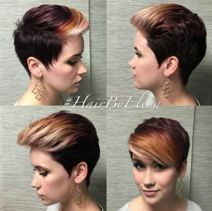 Slicked Back Pixie Hairstyle