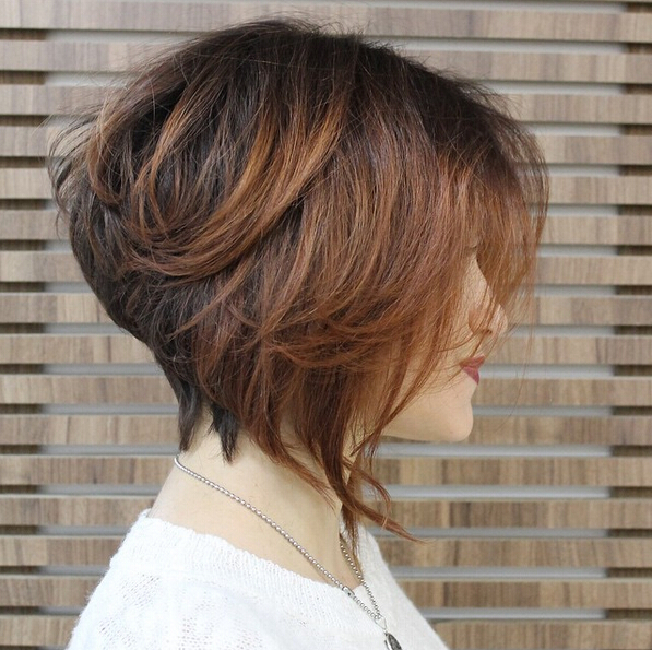 Stacked Bob Hairstyle for Ombre Hair