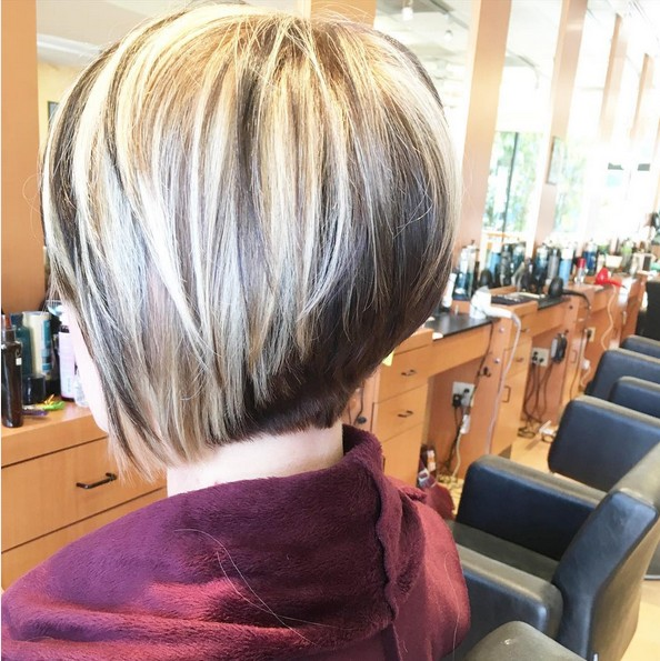 Stacked Bob Hairstyle for Women Over 40
