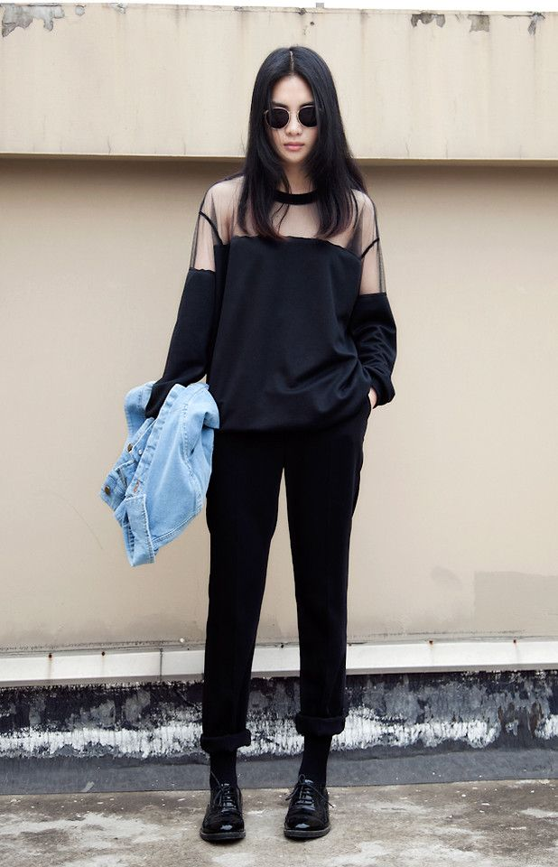 Street Black Outfit Style