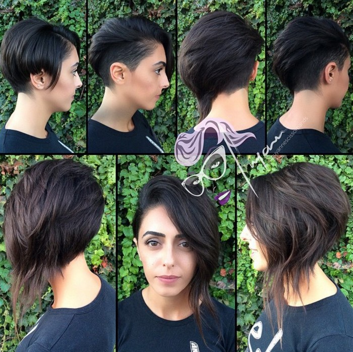 Stylish Long Pixie Hairstyle
