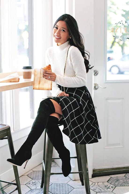 Sweater, Skirt and Boots
