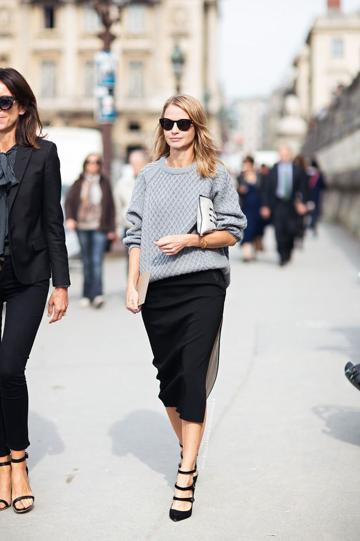 Sweater and Pencil Skirt