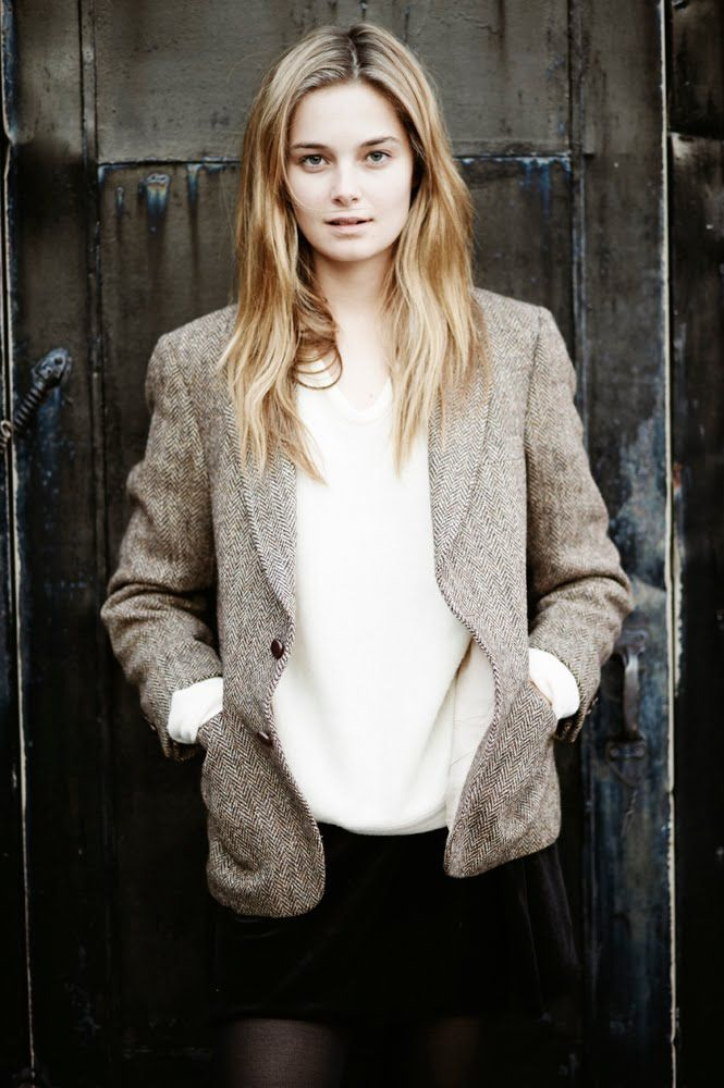 Tweed Blazers and a White Top