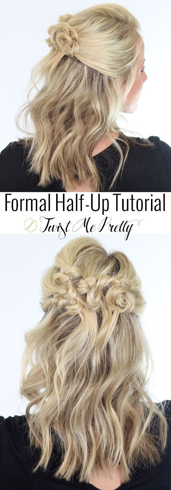 Twisted Bun Half Updo for Mid-Length Hair