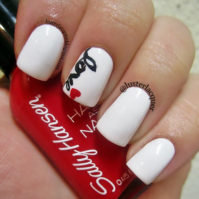 Valentine' s Day Nail Design - 22 Romantic Nail Designs For Your Valentine's Day - Pretty Designs