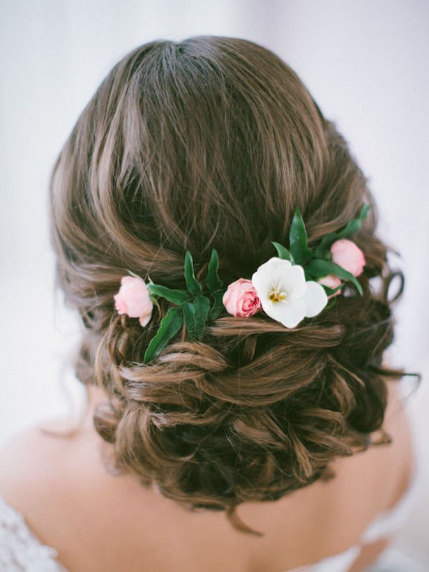 Bridal Updo Flower : Glamorous bridal hairstyles with flowers pretty designs