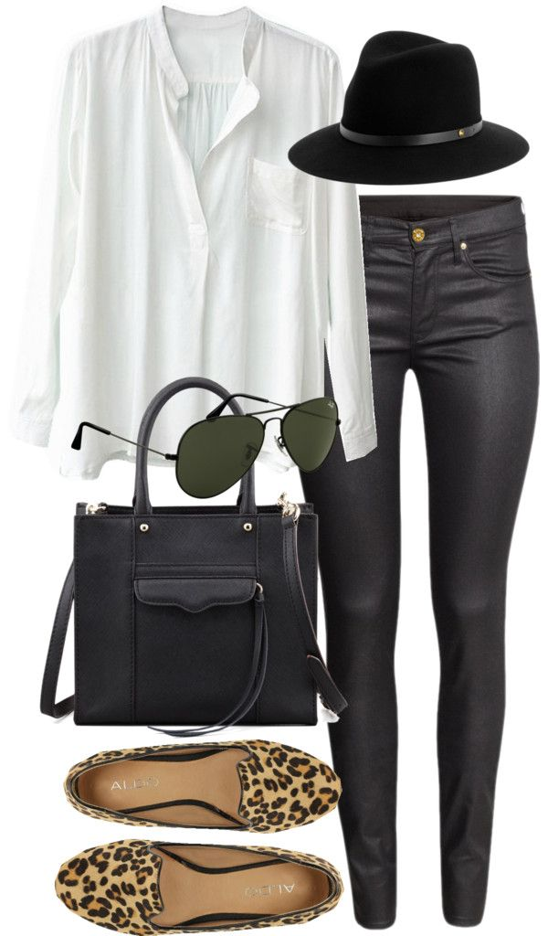 White Shirt and Black Pants
