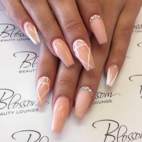 Beige Nail Design