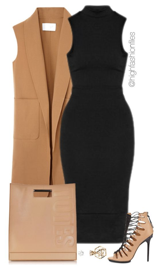 Black And Beige Living Room Decor: 20 Marvelous Polyvore Outfits For Your Office Attire