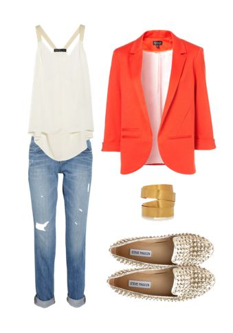 Bright Blazer and Pale Jeans